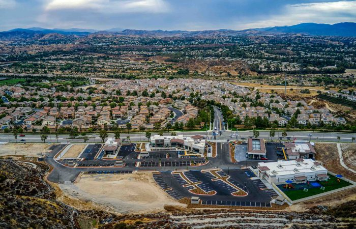 copper hill plaza aerial view as engineering